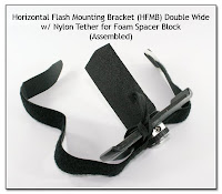 Horizontal Flash Mounting Bracket (HFMB) Double Wide w/ Nylon Tether for Foam Spacer Block (Un-Assembled)