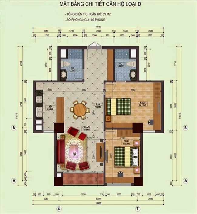Sơ đồ thiết kế chung cư An Lạc Nam La Khê
