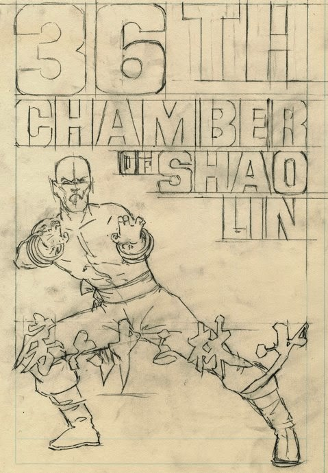 The New York Asian Film Festival Poster Art Show - 36th Chamber of Shaolin Movie Poster by Larry Hama