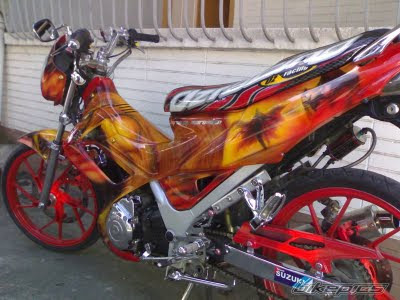 Satria FU Air brush class | Portal Dunia Otomotif