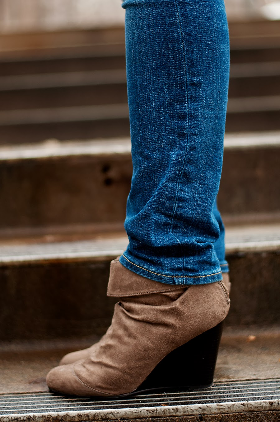 Wedge Suede Booties