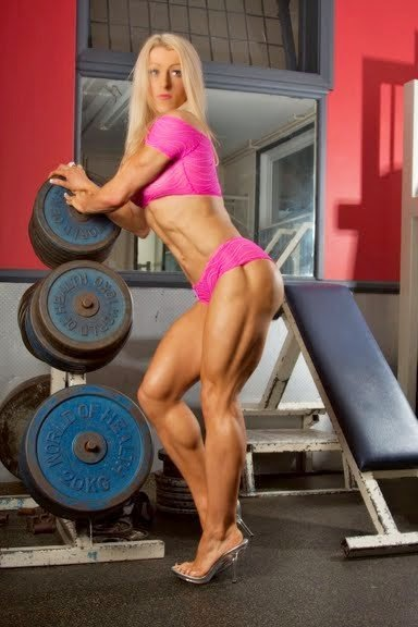 Clare Taubman strong legs and calves  in the gym with heels