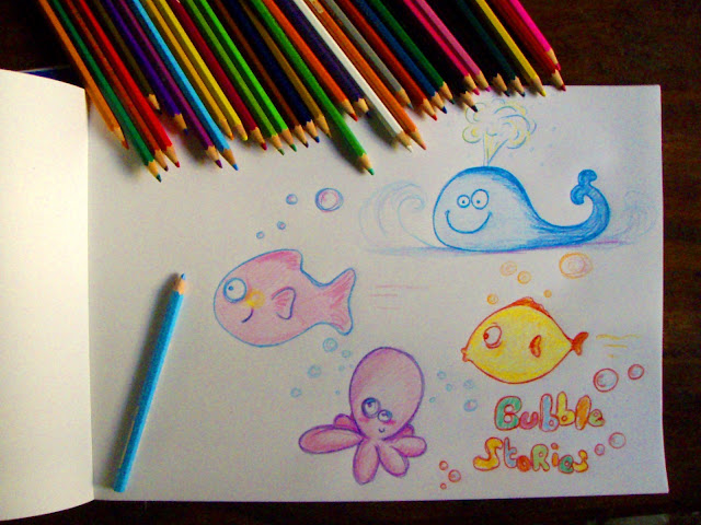 bubble drawings funny coloured pencil drawing