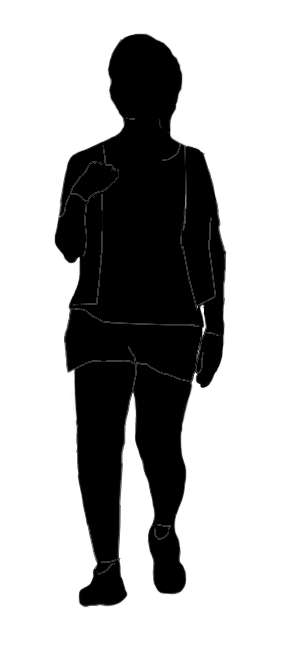 teenager silhouette in shorts