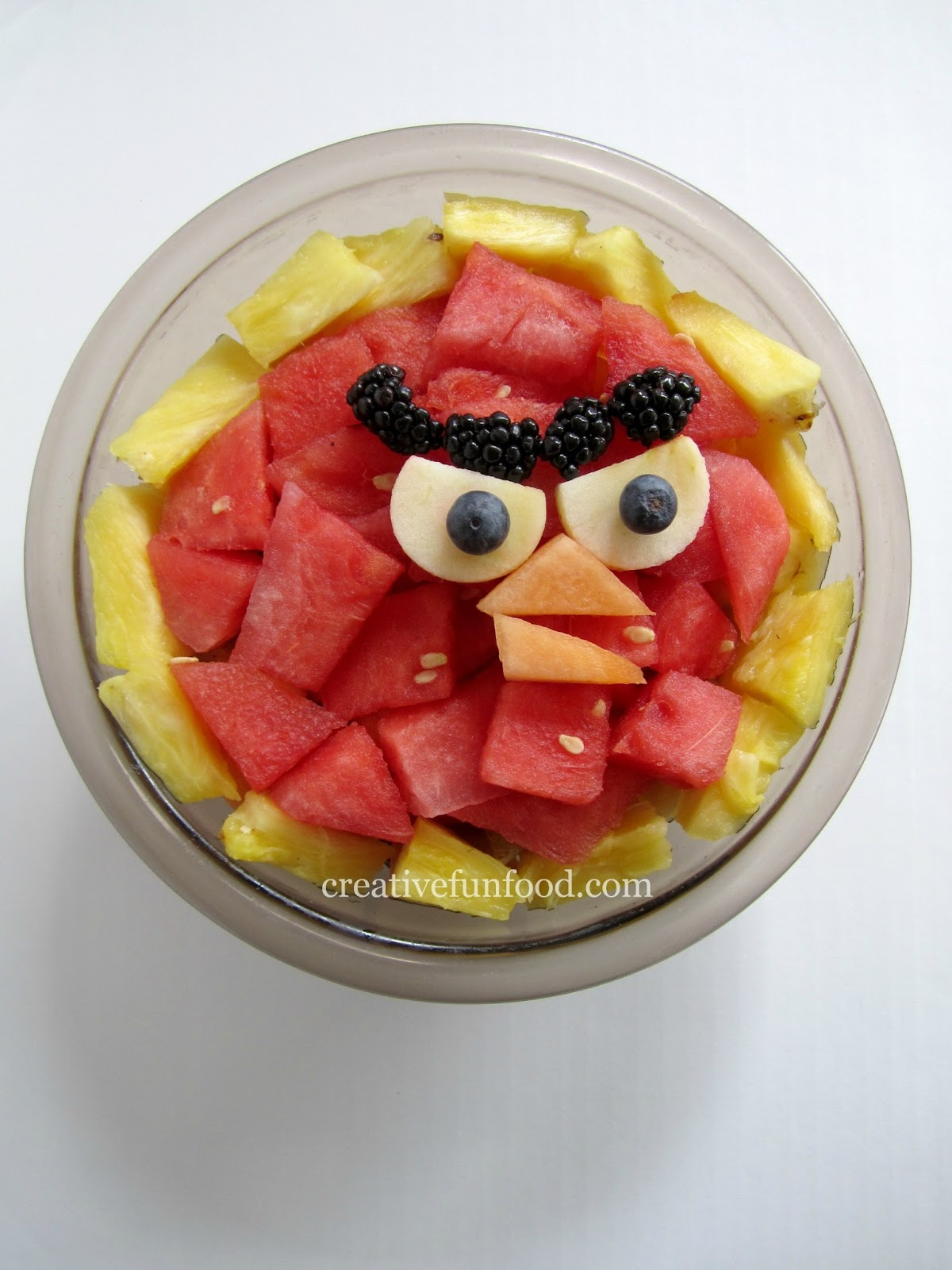 Creative food angry birds birthday party ideas - Salad decoration for kids ...