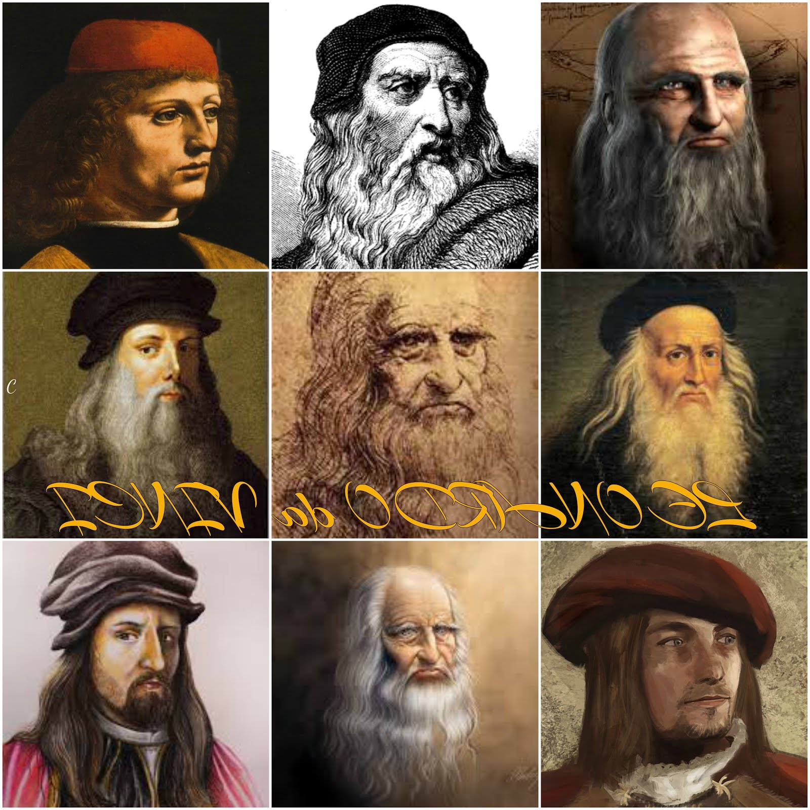 9 Faces of Leonardo da Vinci