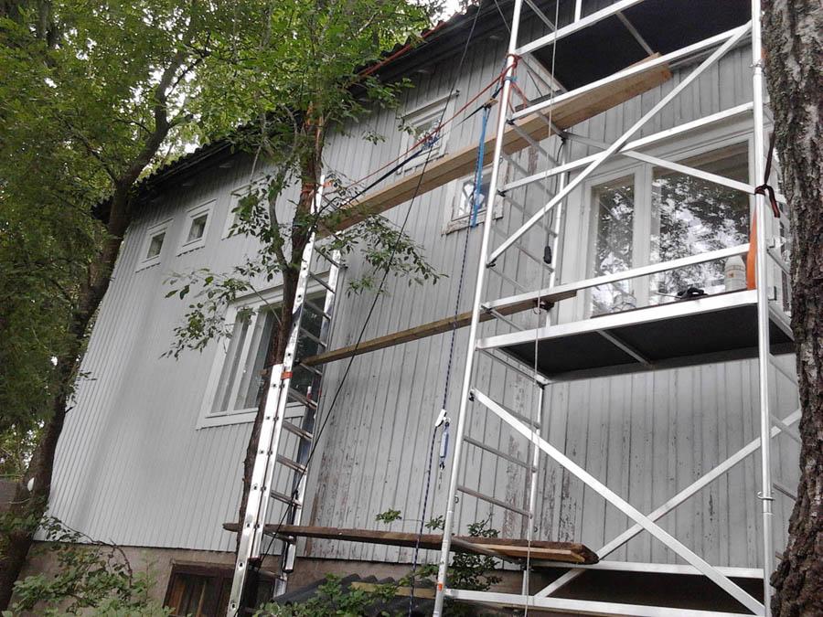 Remontointi ja harrastukset Seinien uudelleen maalaus