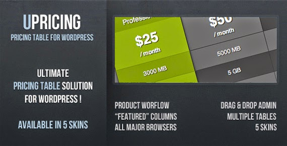 uPricing WordPress Pricing Table Plugin