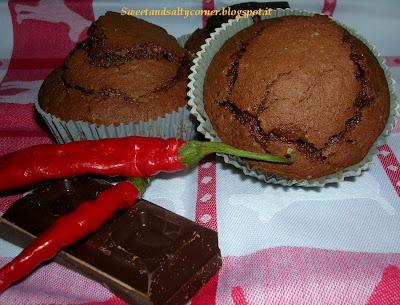 muffins cioccolato e peperoncino