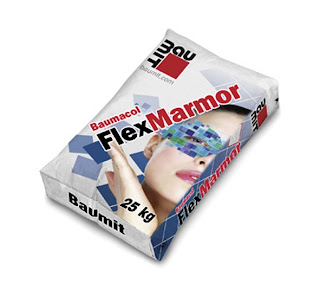 Adeziv Flexibil Alb- Baumit FlexMarmor- pentru Lipire Placi Ceramice, Gresie, Piatra Naturala, Marmura, Adeziv Marmura