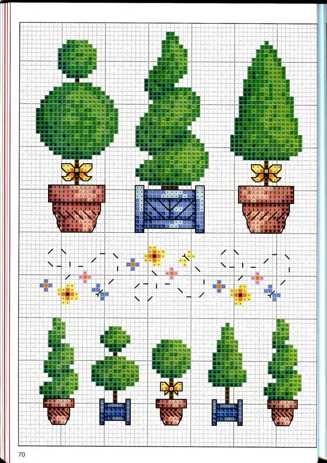 Вышивка крестом схема простое дерево