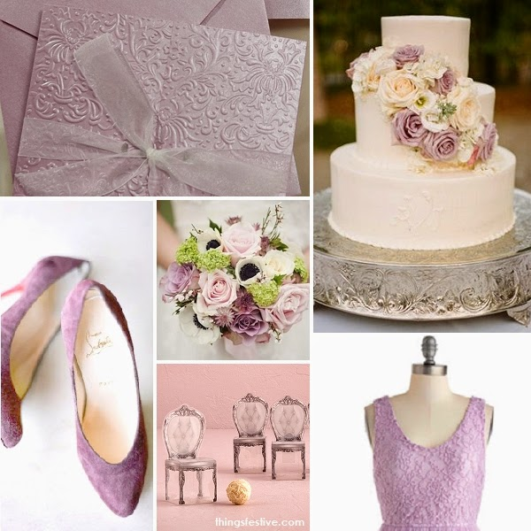 Pantone Mauve Mist Wedding Inspiration