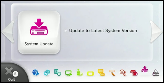 Wii U System Update screen