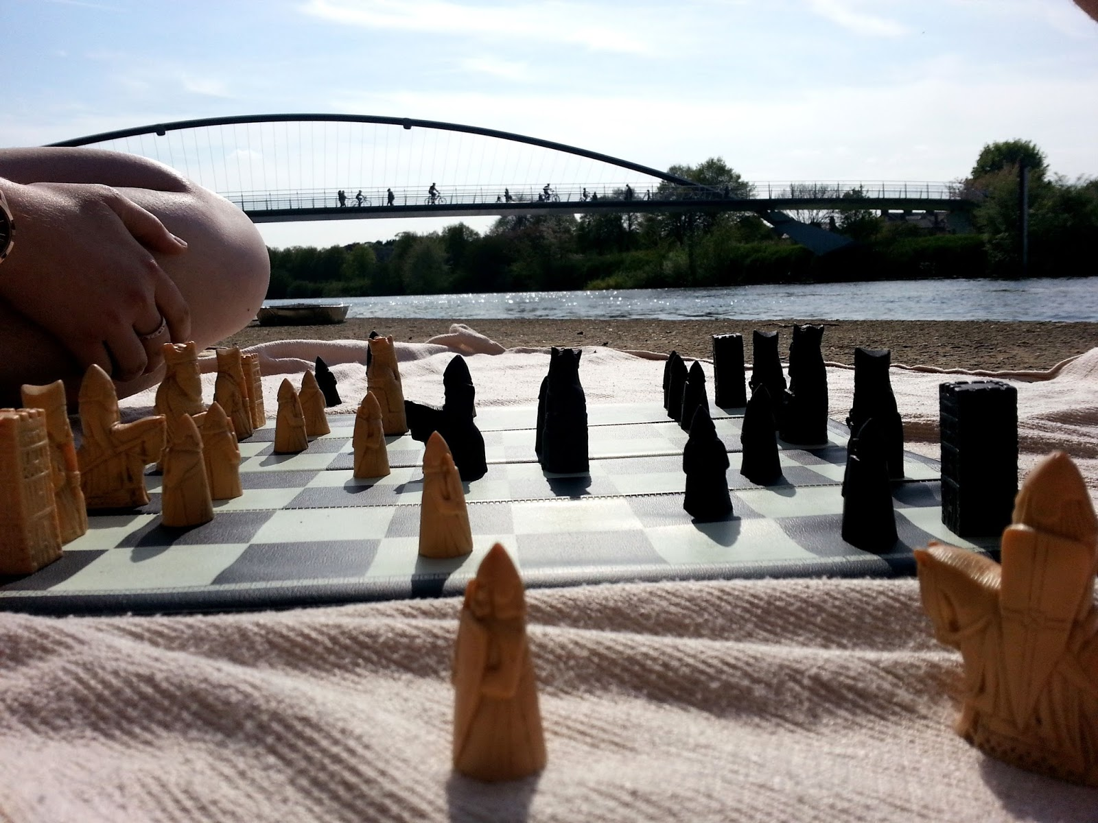 Chess by the river