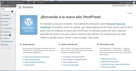 administración de WordPress