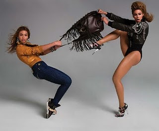 Beyonce Knowles and her alter ego Sasha Fierce