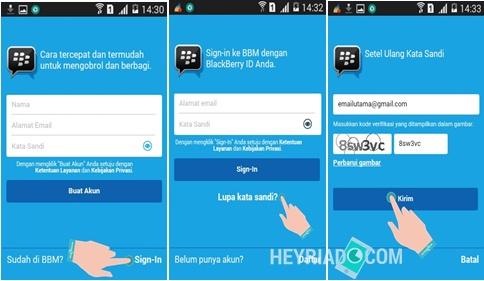 Cara Mengganti Kata Sandi BBM Android