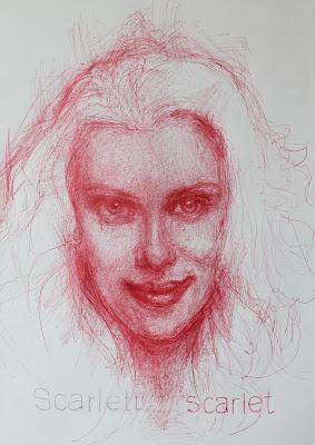 """Scarlett Johansson"", ""Scarlett"", ""sueño"",""dibujo"",""bolígrafo"",""illustration"",""pen"",""escarlata"",""scarlet"",""Draw"", ""drawing"","