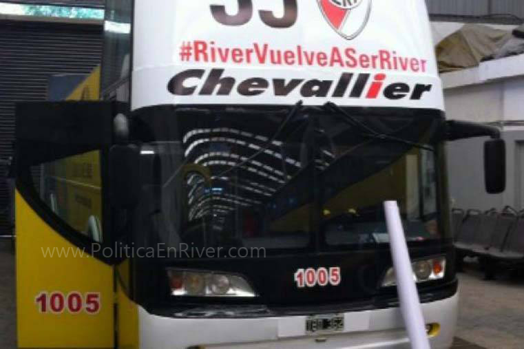 Bus turístico, Macri, PRO, River, River Plate, Ploteo, River campeón, 35,