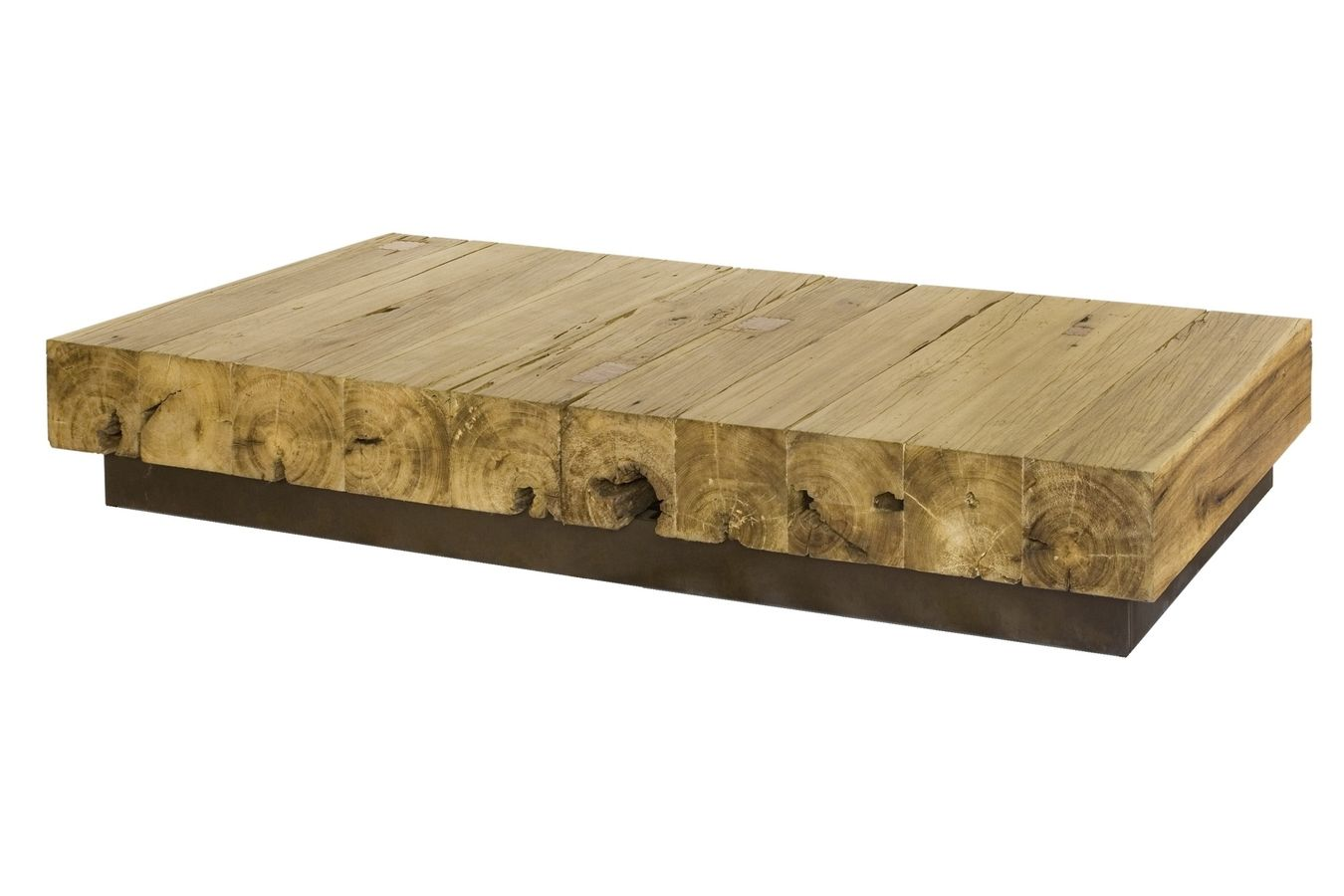 Studio oblique some reclaimed wood furniture Recycled wood coffee table
