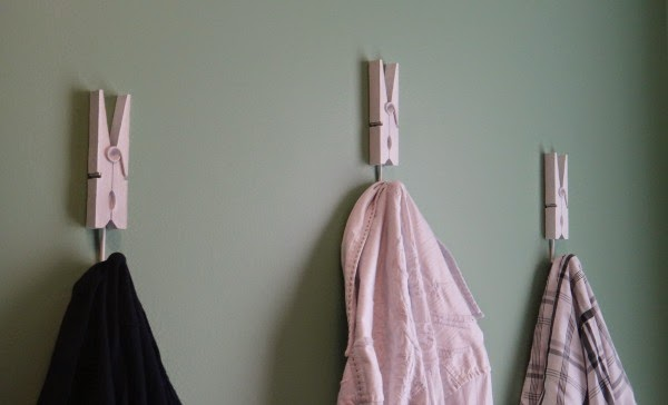 clothespin hooks