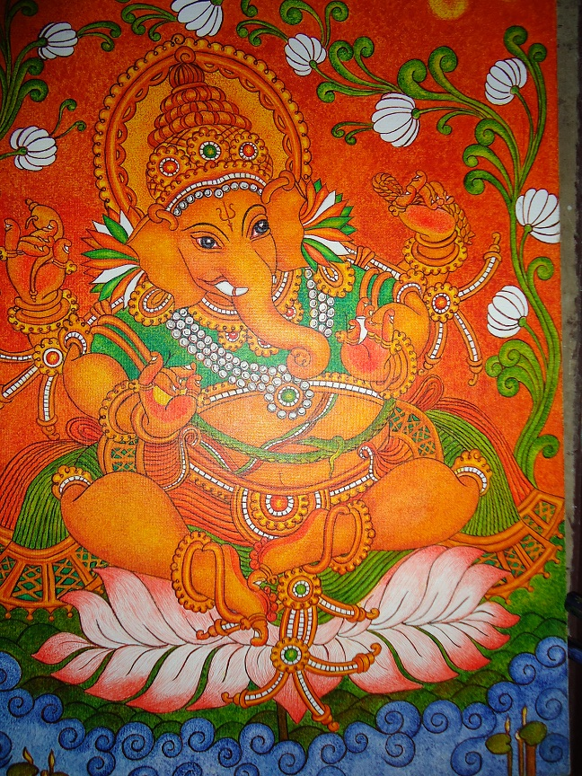My talent mural painting ganapathy for About mural painting