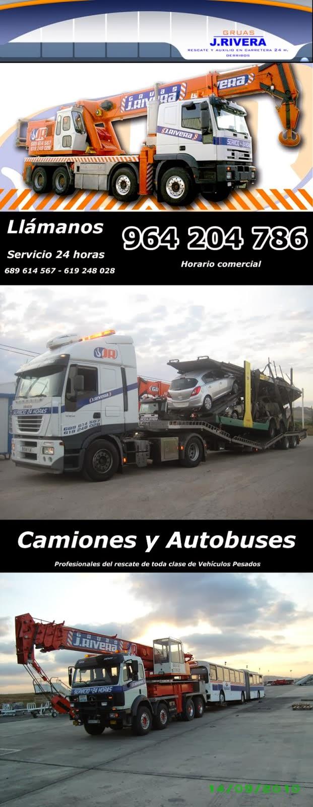 Rescate y Auxílio de camiones y Autobuses con grúas