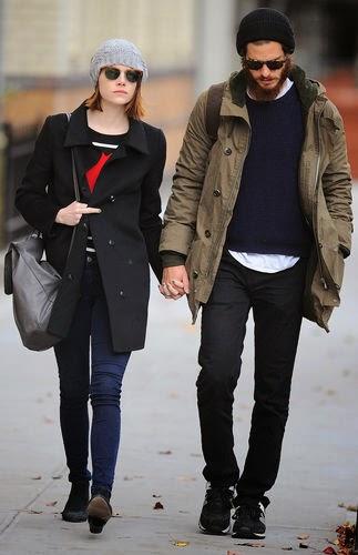 Emma Stone, Andrew Garfield, paparazzi, couple,