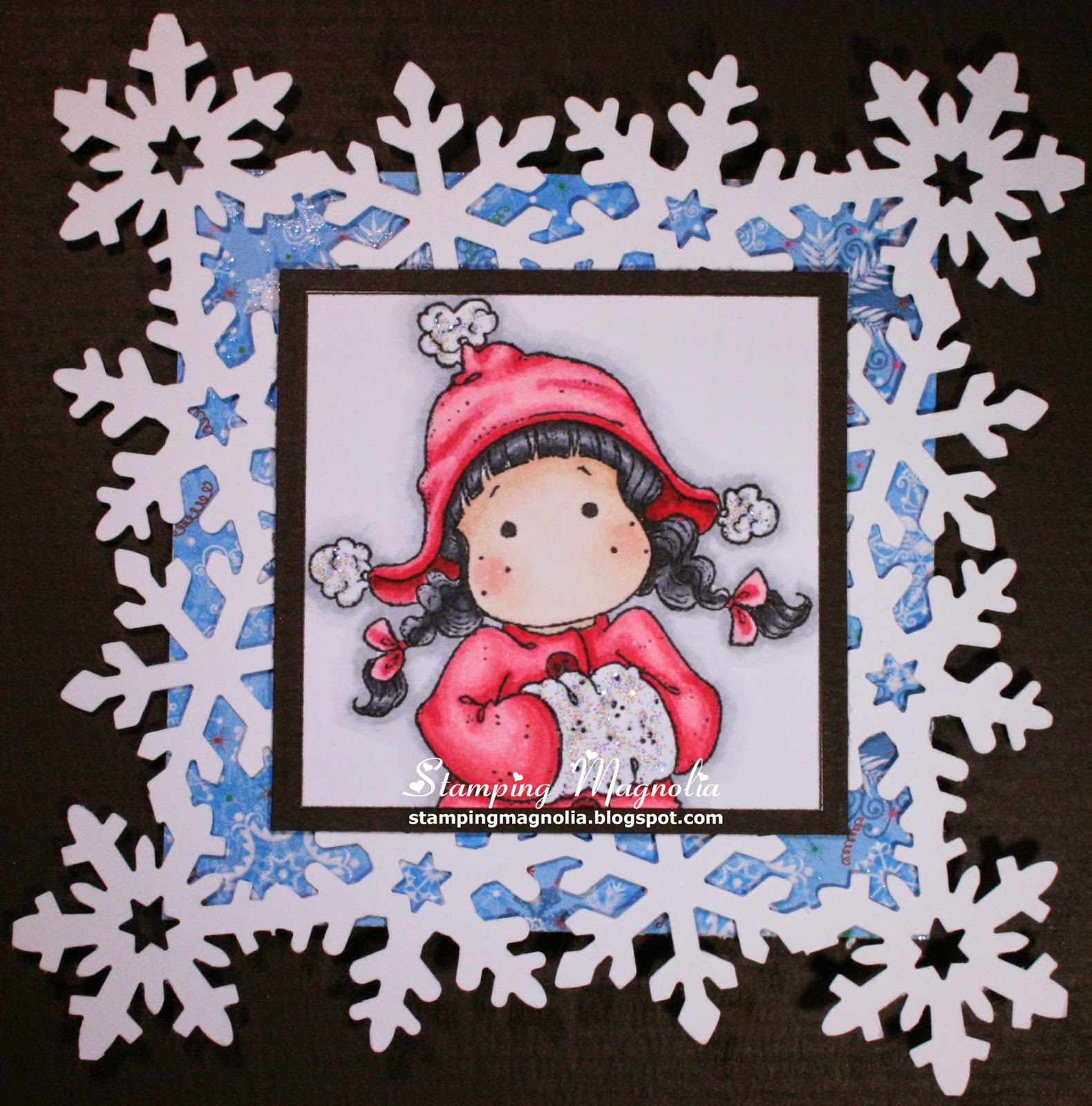 Coloring Magnolia Stamp Sweet Christmas Dreams Collection - Winter Tilda