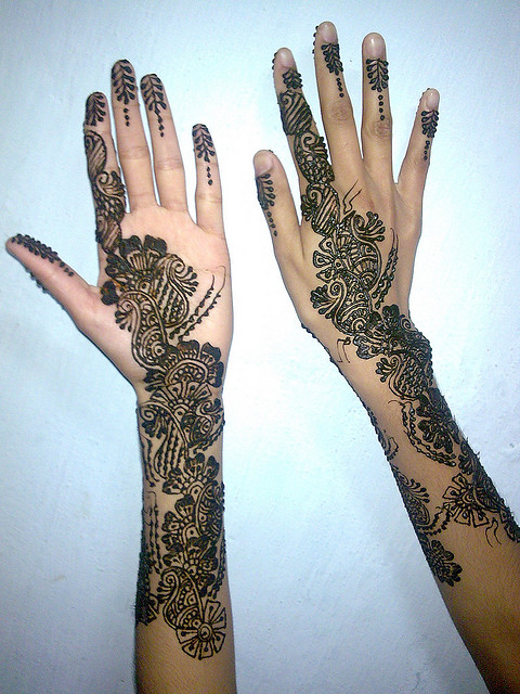 Cute Mehndi Designs on Full Arm Image Engagement Mehndi Designs