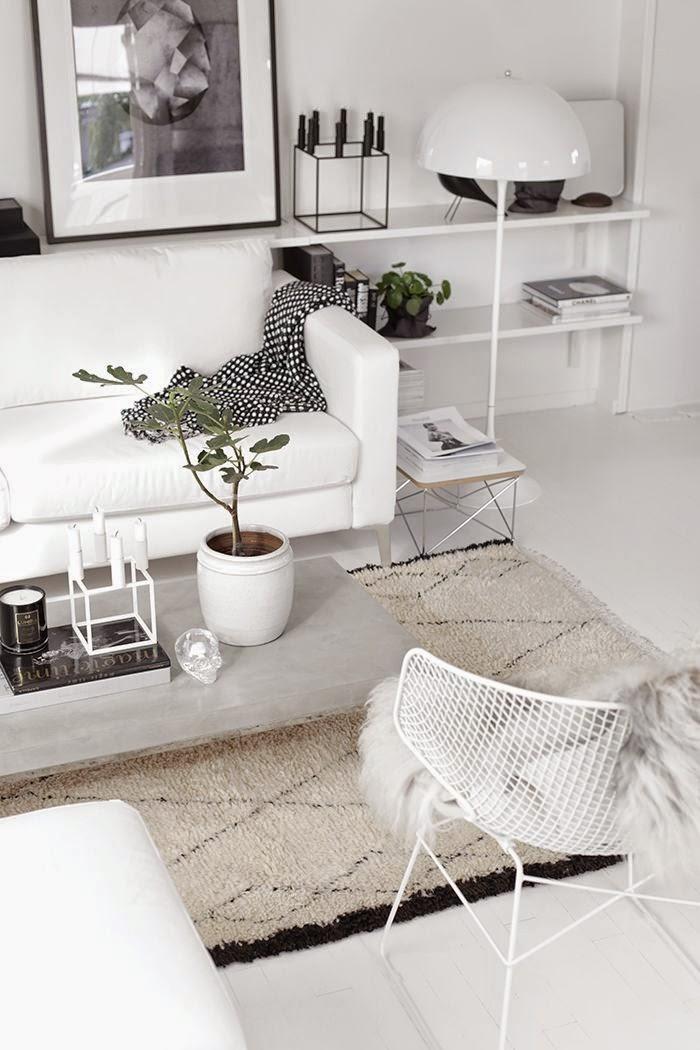 9 fotos de decoración de salas en blanco