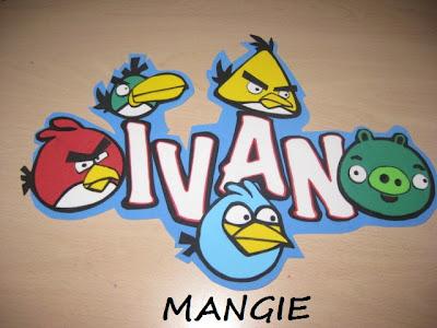 Letrero Angry birds goma eva