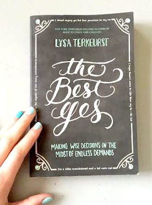 http://www.amazon.com/Best-Yes-Decisions-Endless-Demands/dp/1400205859/ref=sr_1_1?ie=UTF8&qid=1432989708&sr=8-1&keywords=the+best+yes