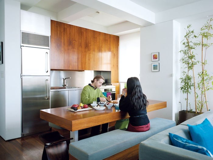 Eight hundred sq ft 550 sq ft nyc swiss army apartment - Dwell small spaces image ...