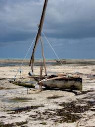 Boat on Jambiani Beach, Zanzibar