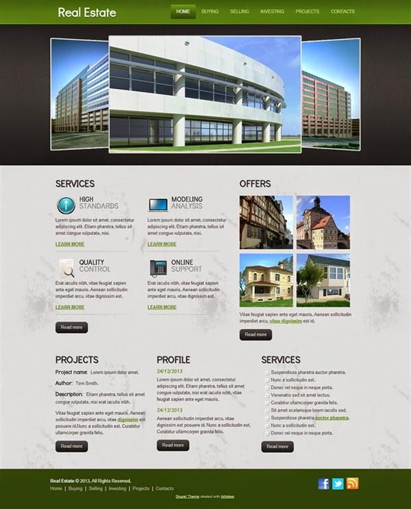 Real Estate - Free Drupal Theme