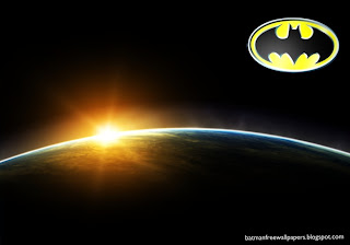 Wallpapers of Batman Dark Knight Logo in Space Eclipse Desktop Wallpaper