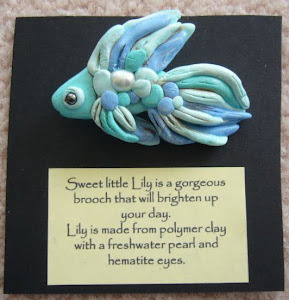 Lily the fish brooch