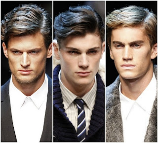 Old classic 1940s retro hairstyles for men