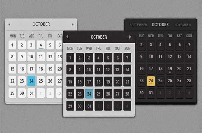 Free PSDs files of Calendars