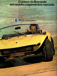 propaganda União Financeira - 1972, brazilian advertising cars in the 70s; os anos 70; história da década de 70; Brazil in the 70s; propaganda carros anos 70; Oswaldo Hernandez;.