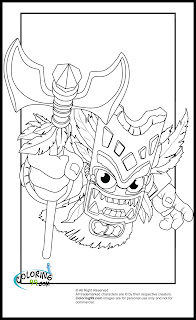 skylanders magic double trouble coloring pages