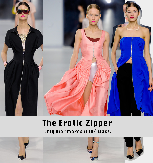 Dior Cruise 2014 - Zipper Dresses - Runway to Style Freaks Fashion Blog