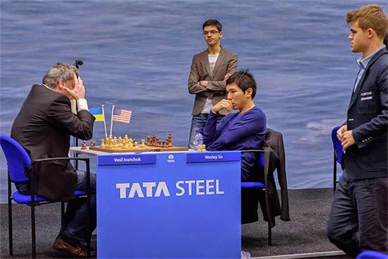 Une partie d'échecs instructive de la ronde 8 du Tata Steel. La victoire de Wesley So sur Vassily Ivanchuk - Photo © Alina L'Ami
