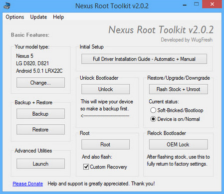 Download Nexus Root Toolkit 2.0.2 Latest Version