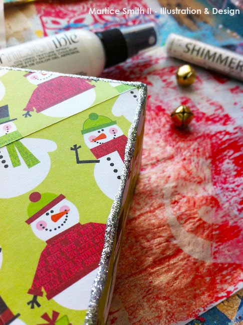 Origami Gift Boxes by Martice Smith II; add glitter embellishment