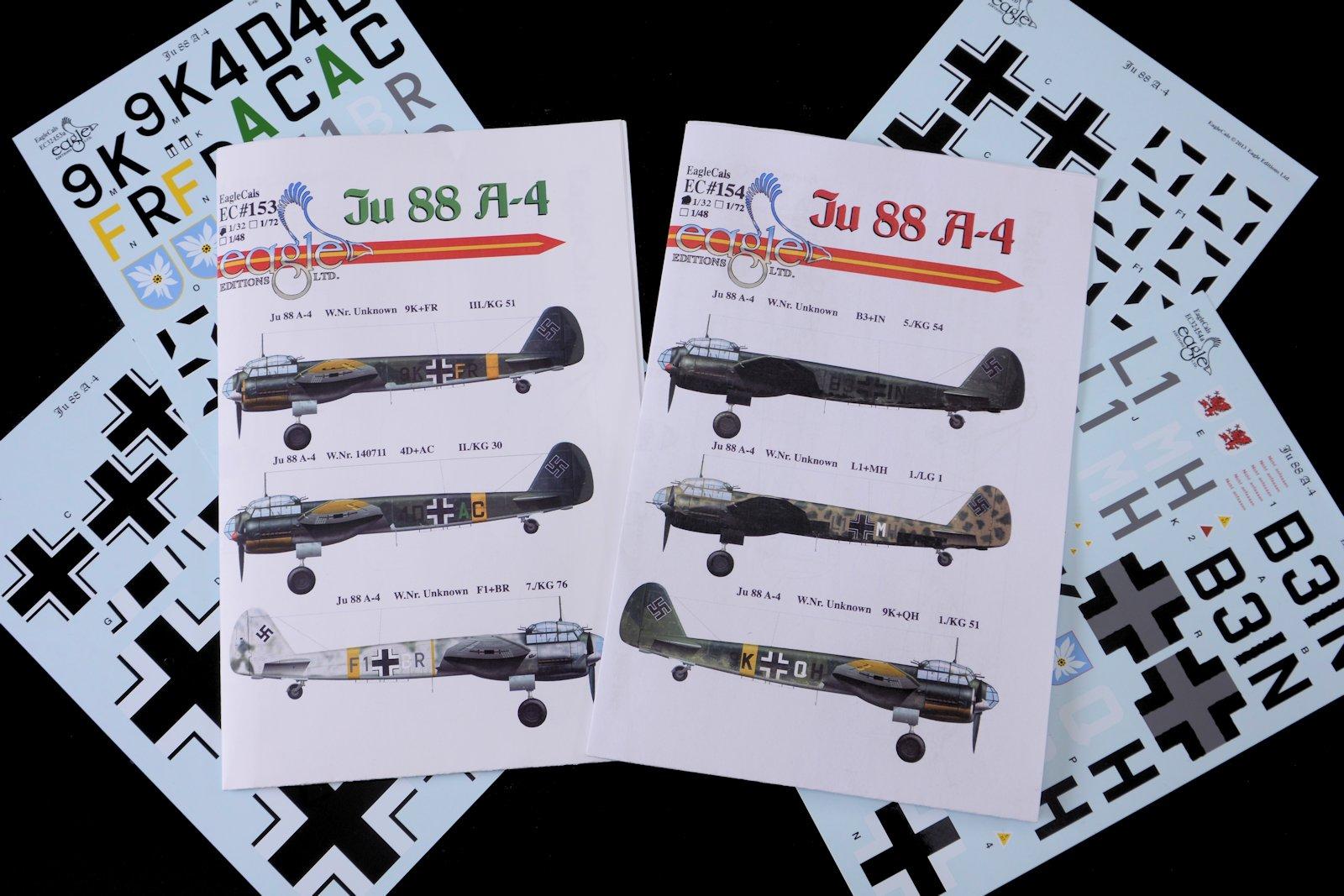 EagleCals Decals 1//72 JUNKERS Ju-88A-4 German Bomber