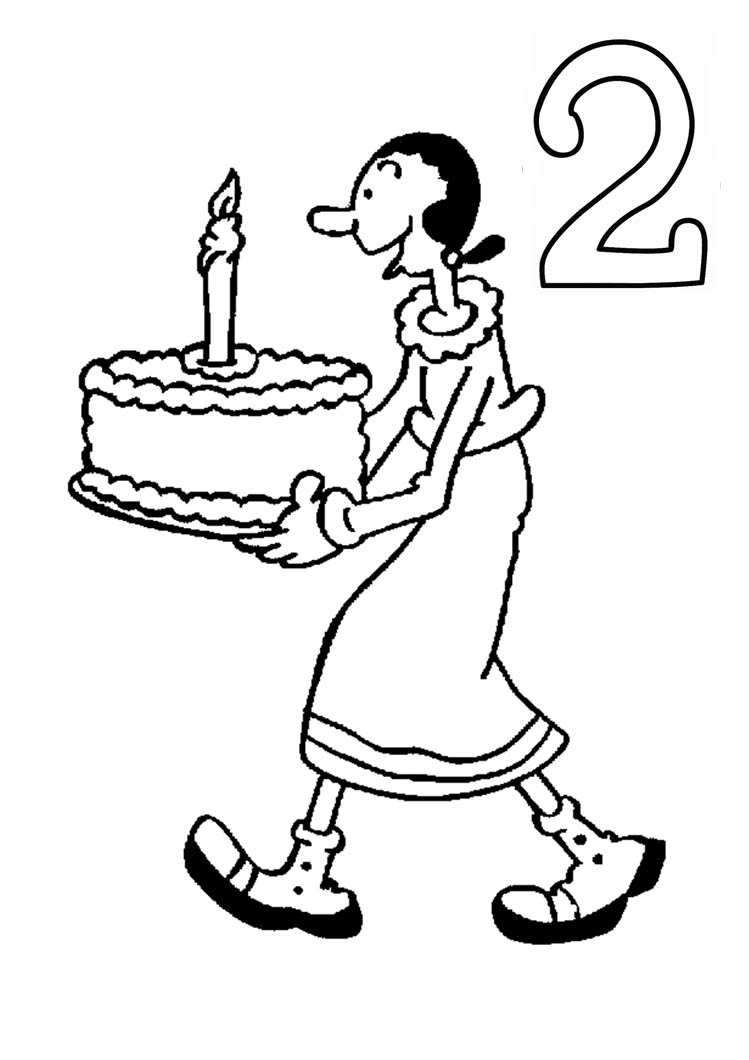 Disney Cartoon Coloring Pages Numbers
