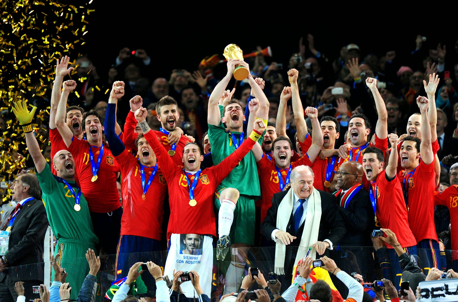 Spain World Cup Winners 2010