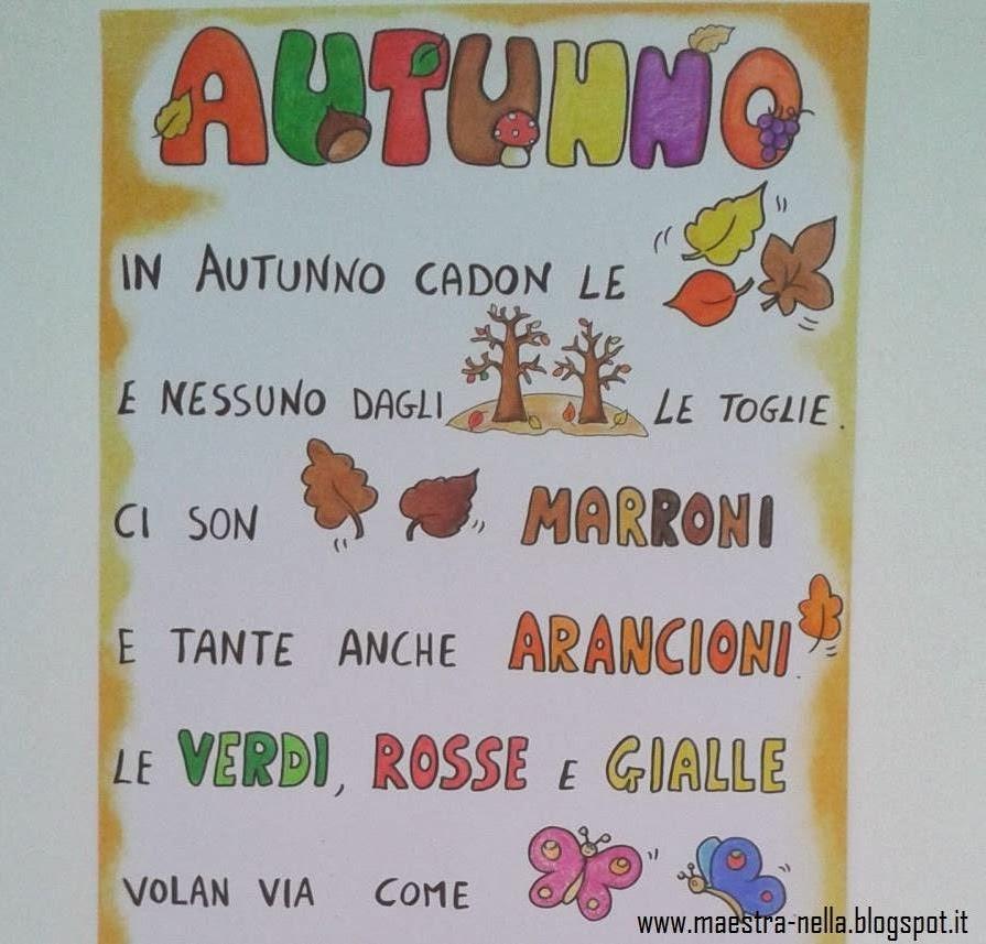 Amato maestra Nella: Autunno - poesia illustrata TJ36